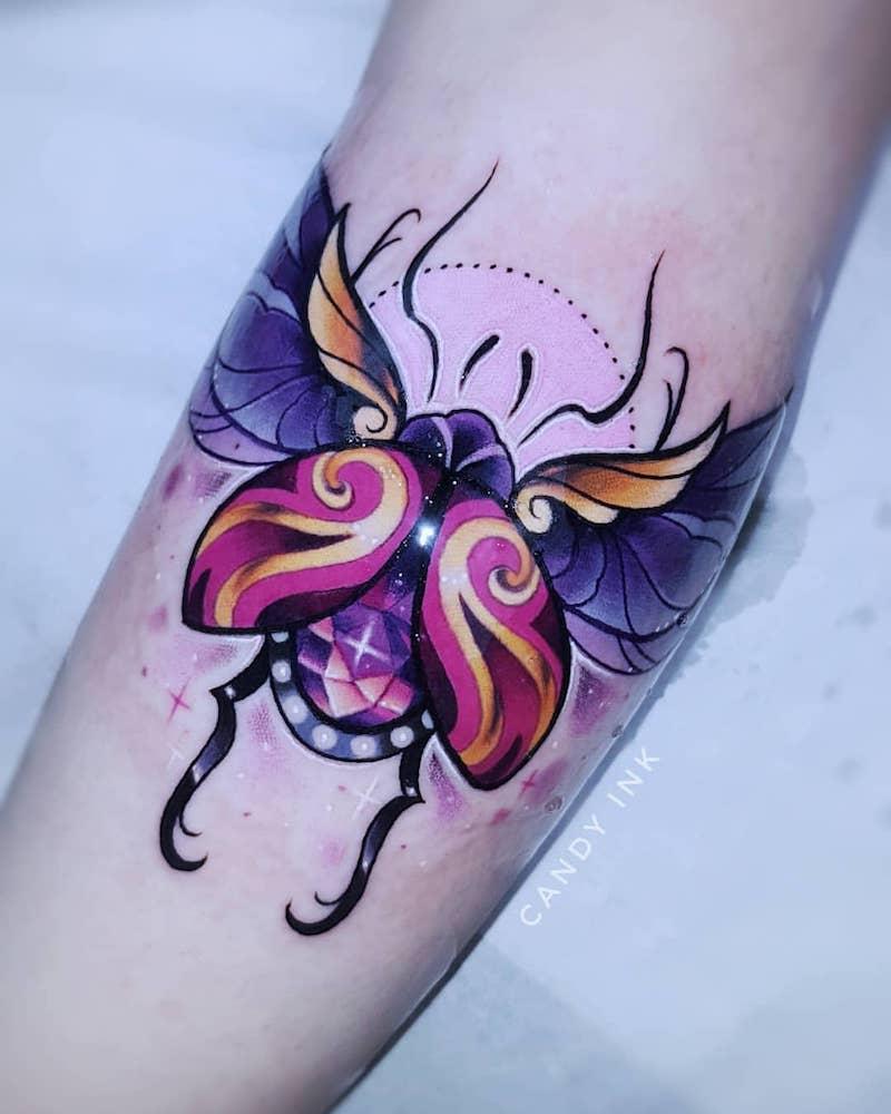 Beetle Tattoo by Laura Konieczna