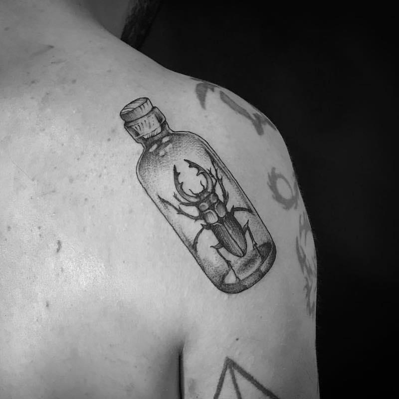 Beetle Tattoo by Tom Tom Tatt