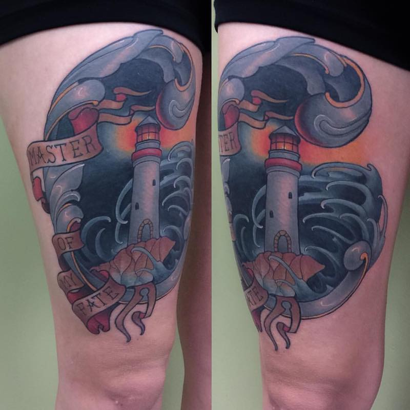 Lighthouse Tattoo by Billy Weigler