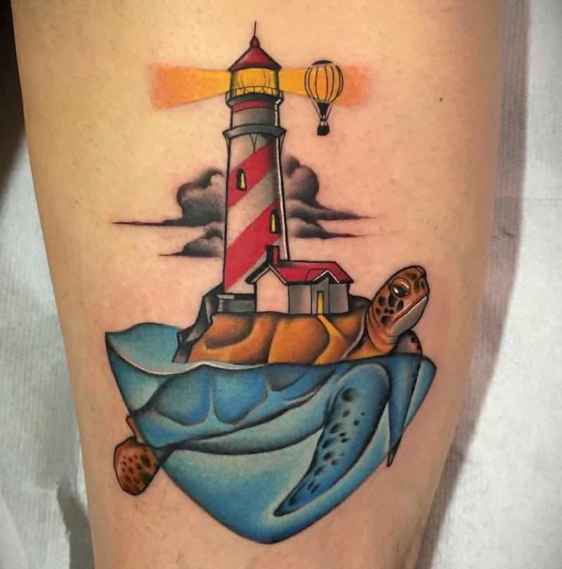 Lighthouse Tattoo by Fulvio Vaccarone