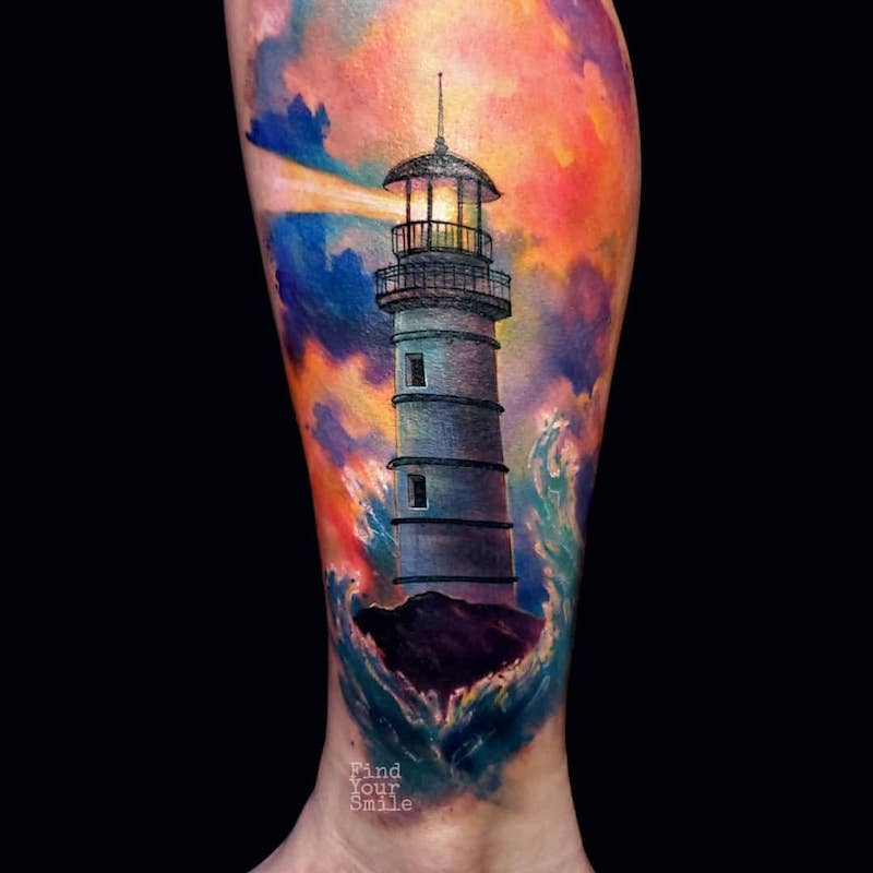Lighthouse Tattoo by Russell Van Schaick