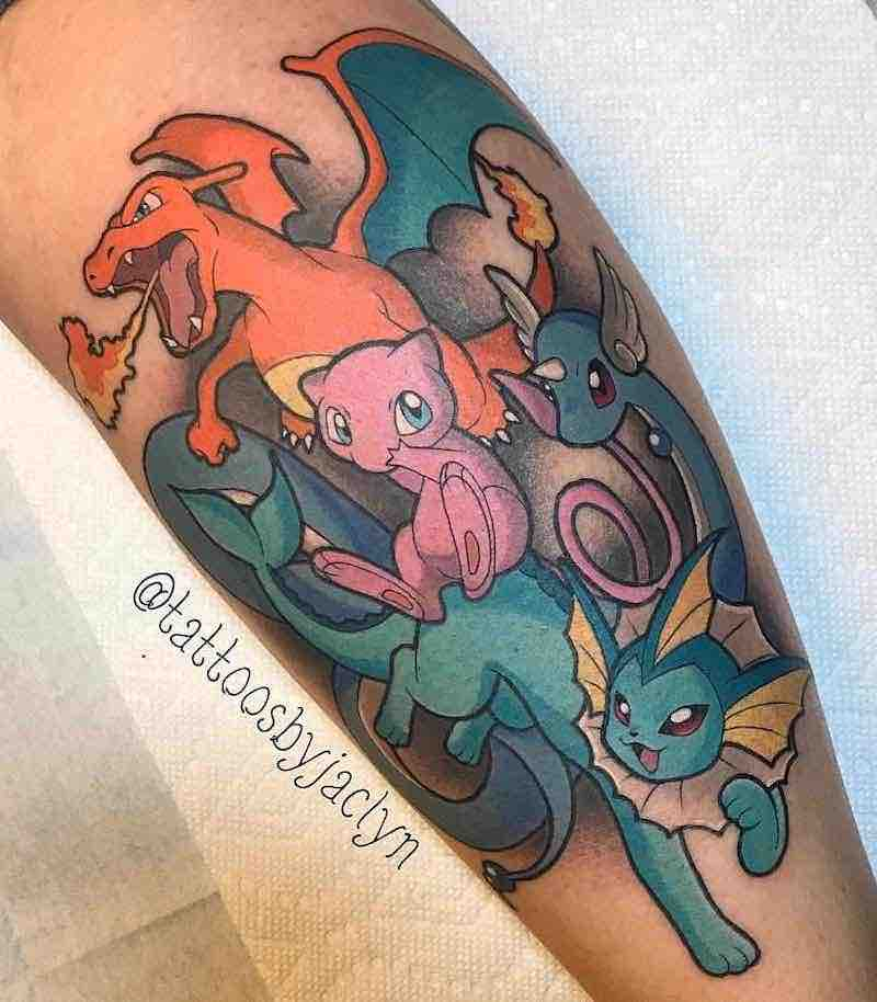 Pokemon Tattoo 2 by Jackie Huertas