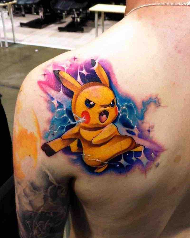 Pokemon Tattoo 3 by Steven Compton