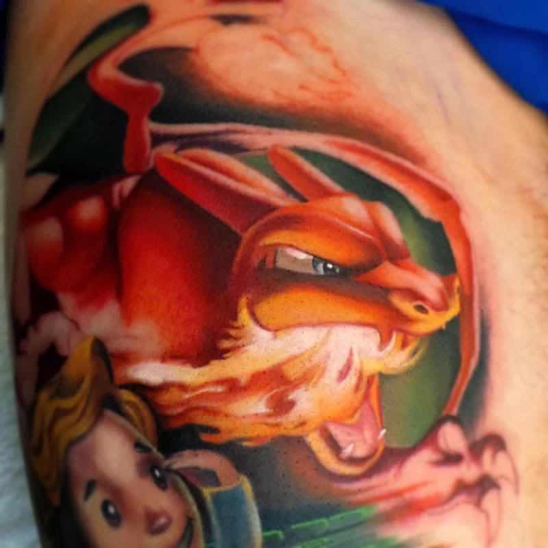 Pokemon Tattoo 4 by Steven Compton