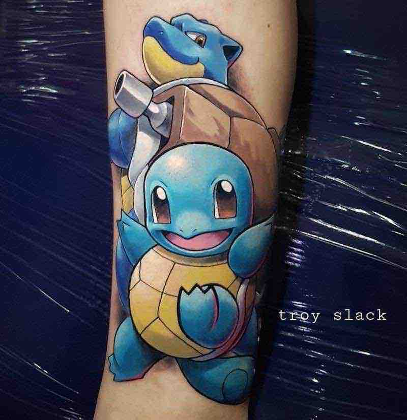 Pokemon Tattoo 4 by Troy Slack