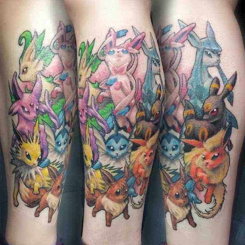 Pokemon Tattoo 5 by Simon K Bell