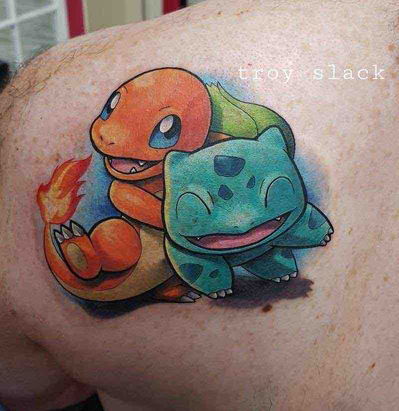 Pokemon Tattoo 7 by Troy Slack