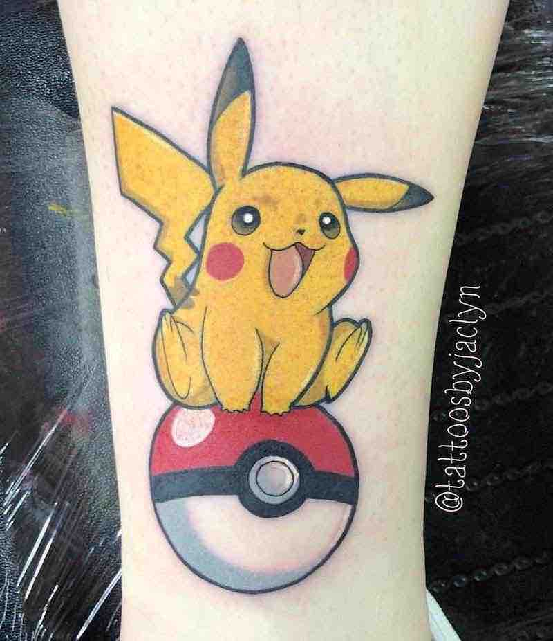Pokemon Tattoo by Jackie Huertas