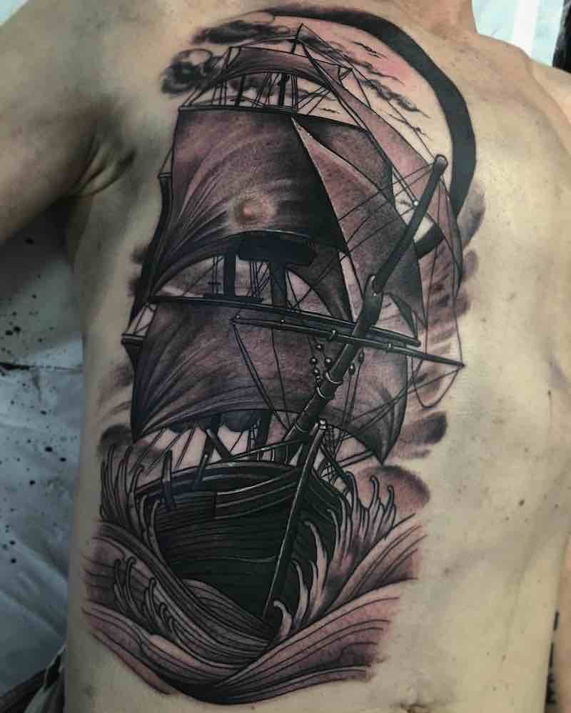 Ship Tattoo 2 by Jason James Smith