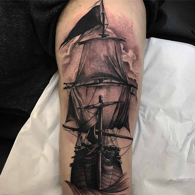 Ship Tattoo by Jason James Smith