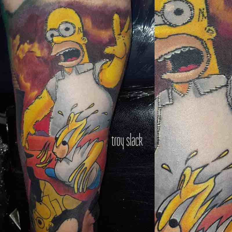 Simpsons Tattoo 2 by Troy Slack
