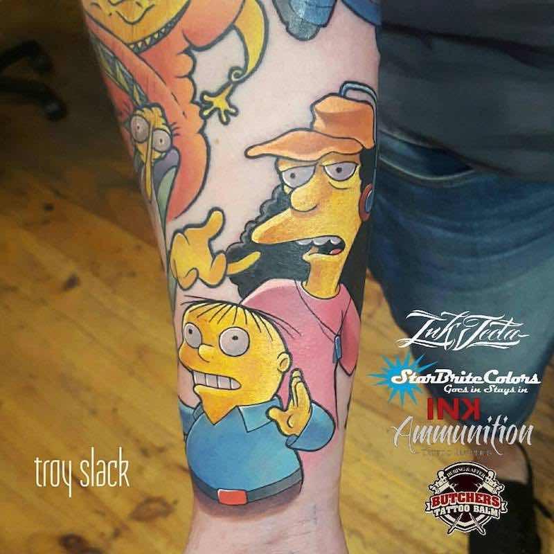 Simpsons Tattoo 5 by Troy Slack