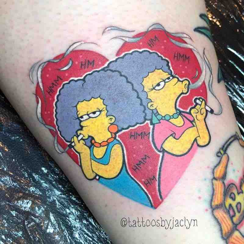 Simpsons Tattoo by Jackie Huertas