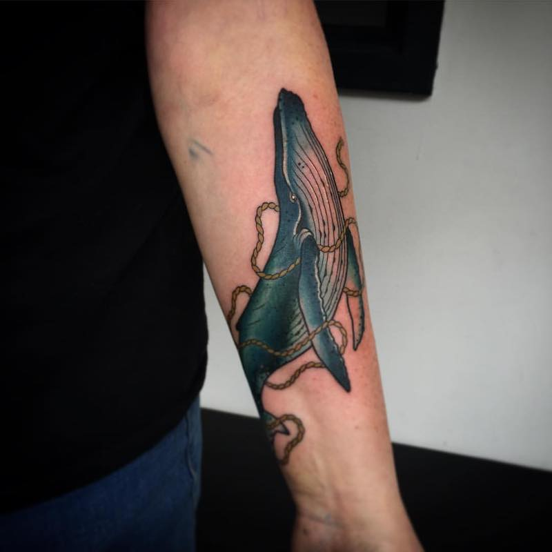 Whale Tattoo by Fraser Peek