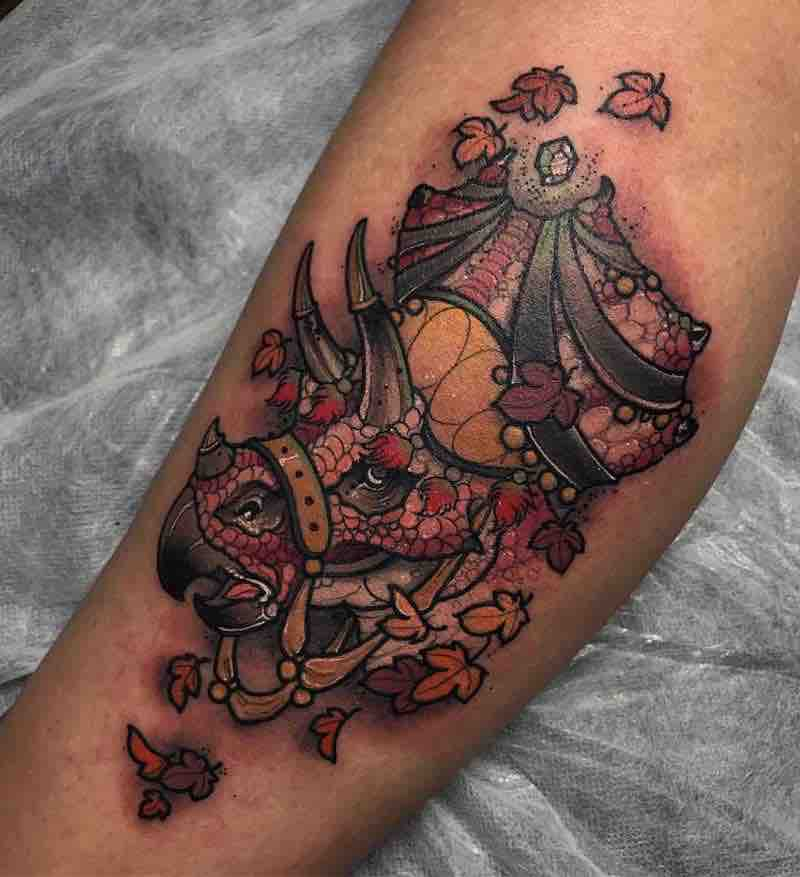 Dinosaur Tattoo 2 by Dean Kalcoff