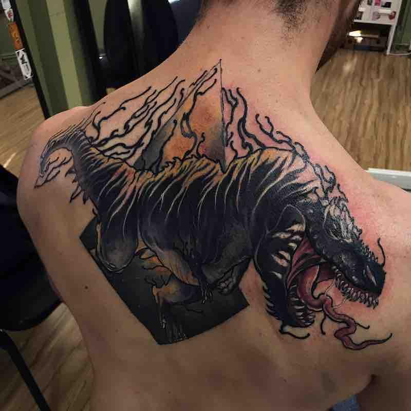 Dinosaur Tattoo 4 by Dean Kalcoff