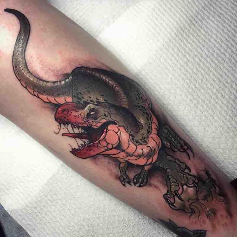 Dinosaur Tattoo 5 by Dean Kalcoff