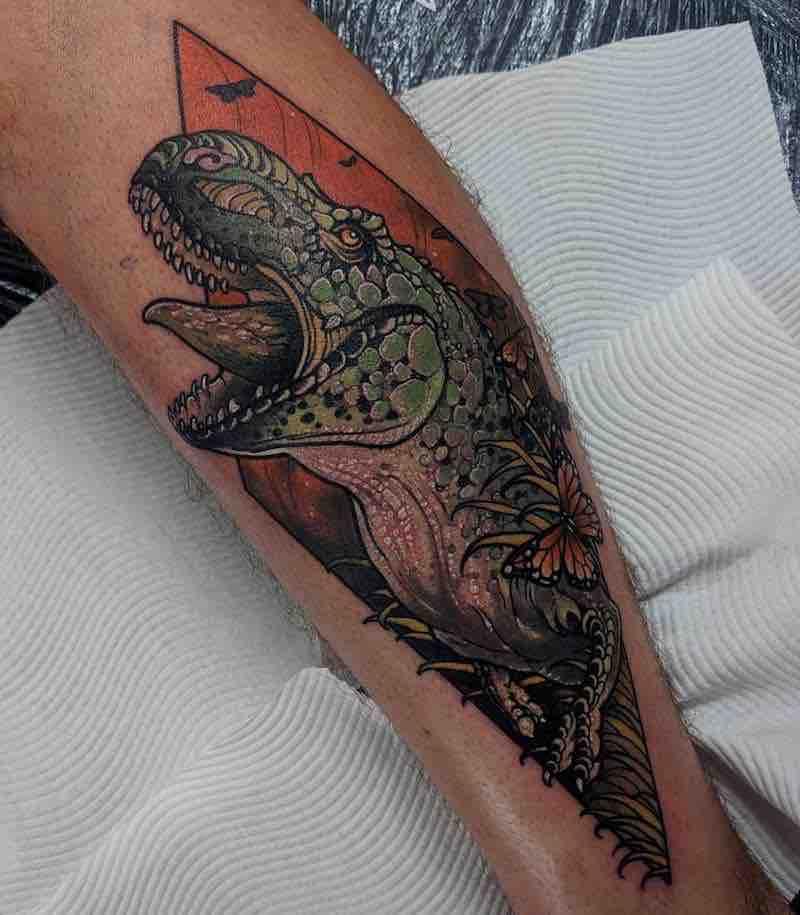 Dinosaur Tattoo by Dean Kalcoff