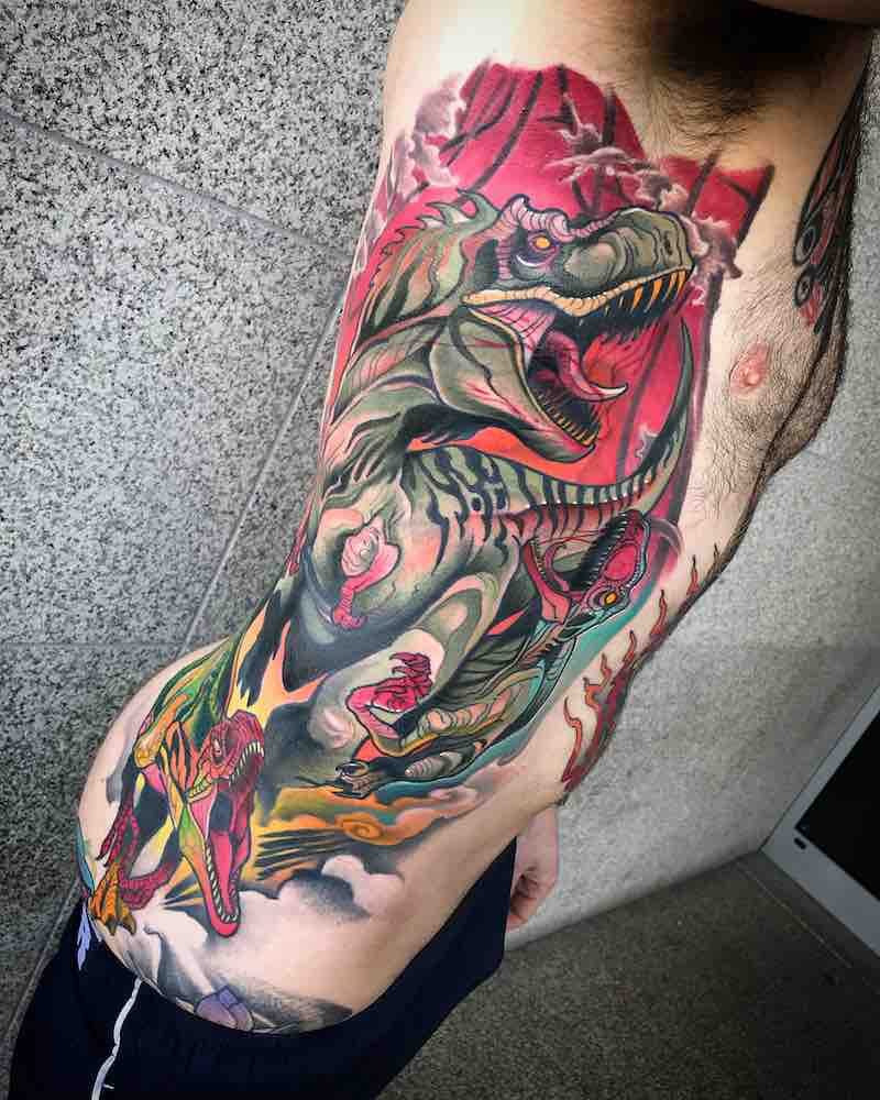 Dinosaur Tattoo by Johnny Domus
