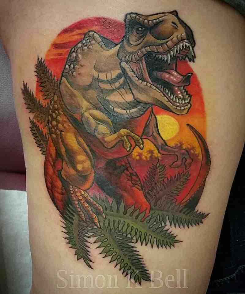 Dinosaur Tattoo by Simon K Bell