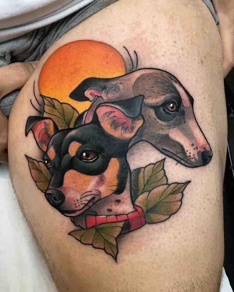 Dog Tattoo by Krish Trece