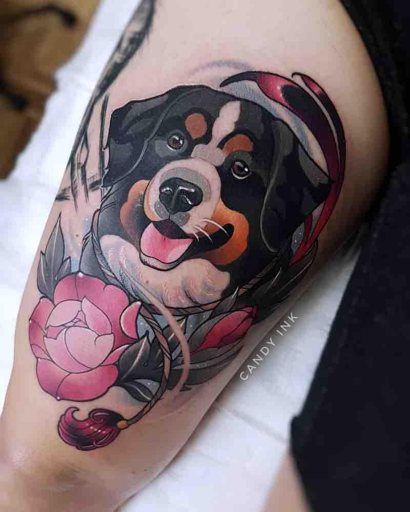 Dog Tattoo by Laura Konieczna