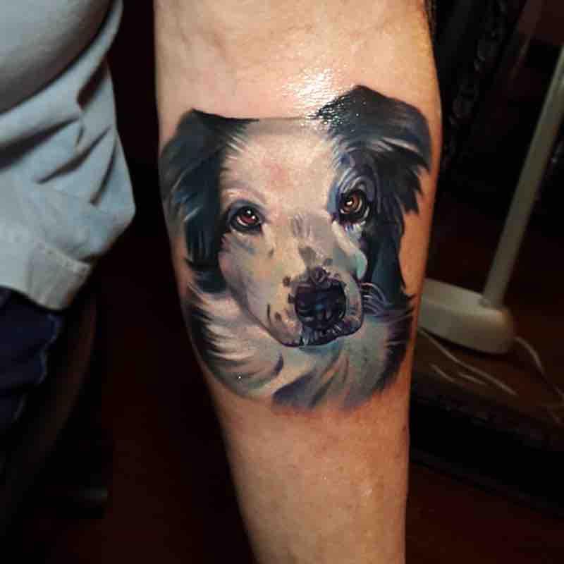 Dog Tattoo by Tyler Malek