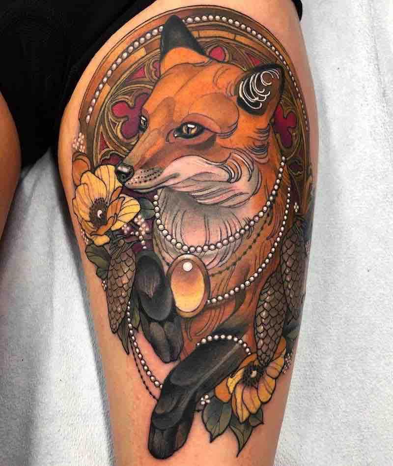 Fox Tattoo by Arielle Gagnon