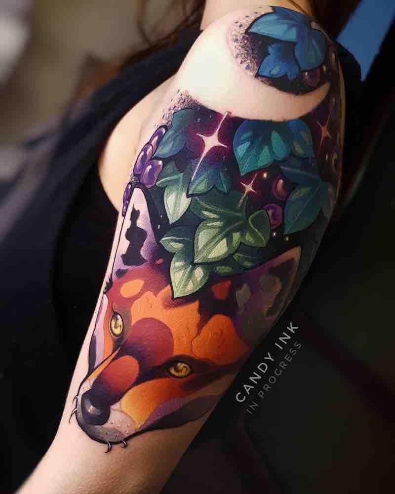 Fox Tattoo by Laura Konieczna