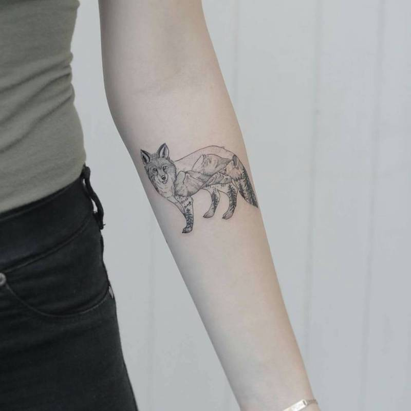 Fox Tattoo by Phoebe Hunter