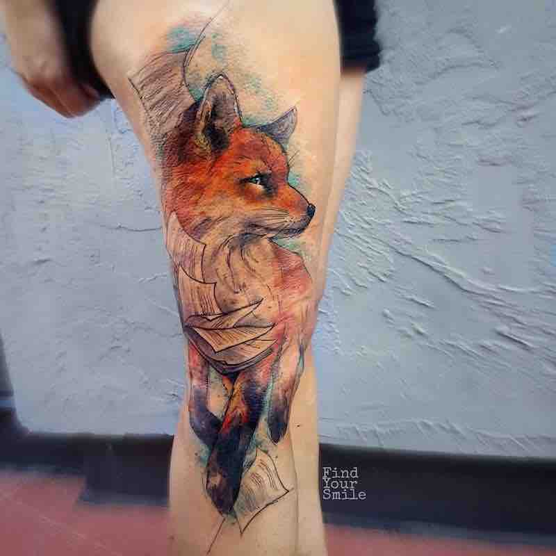 Fox Tattoo by Russell Van Schaick