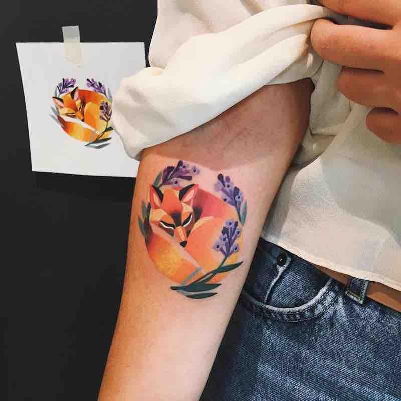 Fox Tattoo by Sasha Unisex