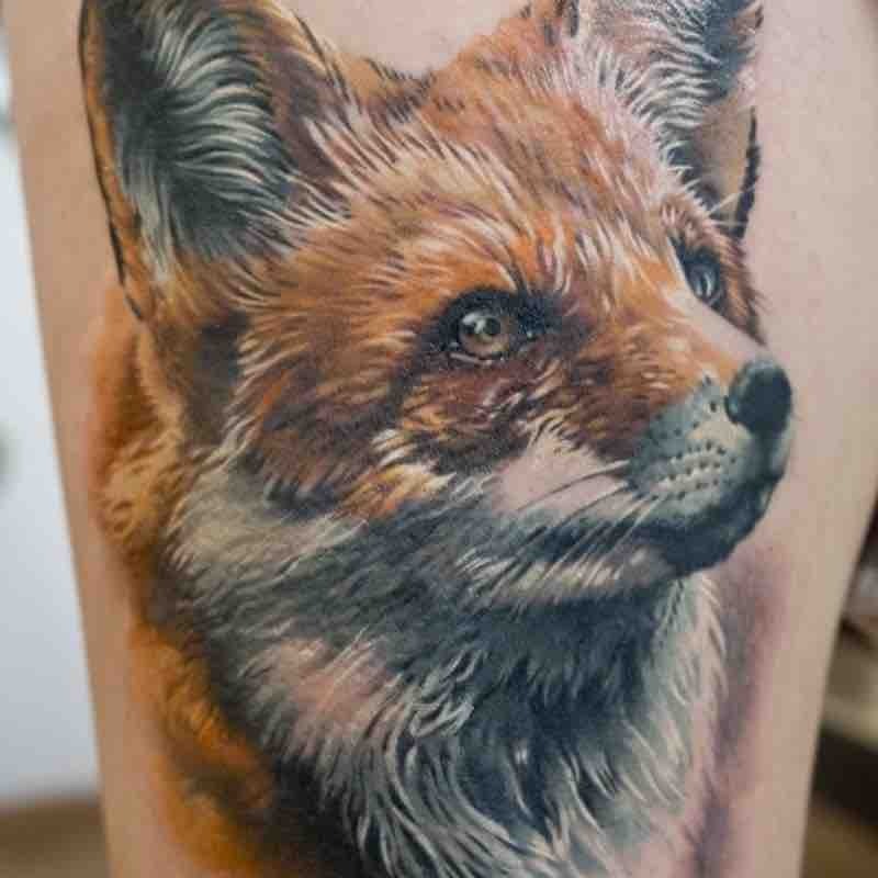 Fox Tattoo by Sonny Superglue