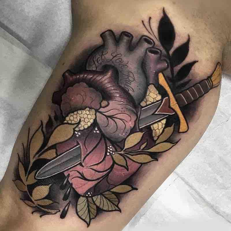 Heart Tattoo 2 by Anthony Barros Castro