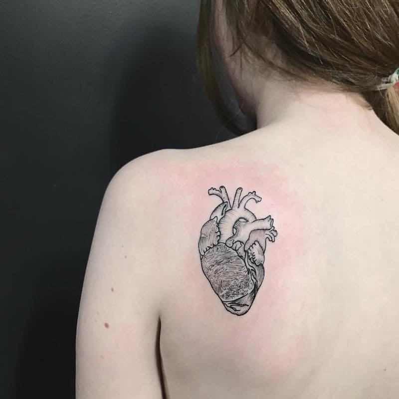 Heart Tattoo by Lauren Winzer