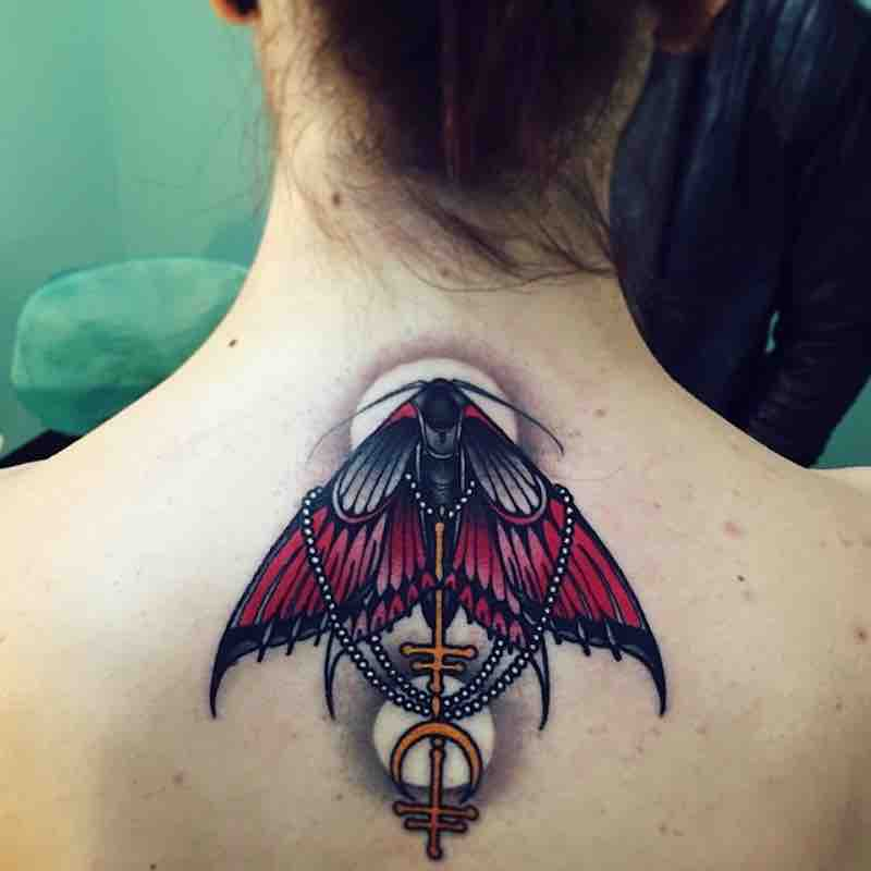 Moth Tattoo 2 by Brando Chiesa