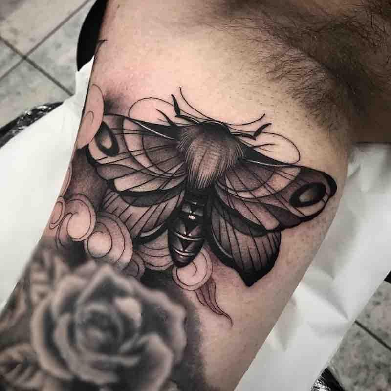 Moth Tattoo 2 by Jason James Smith