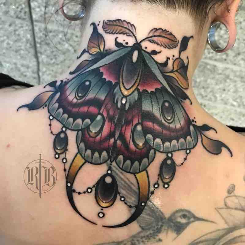 Moth Tattoo 2 by RB Tattoo