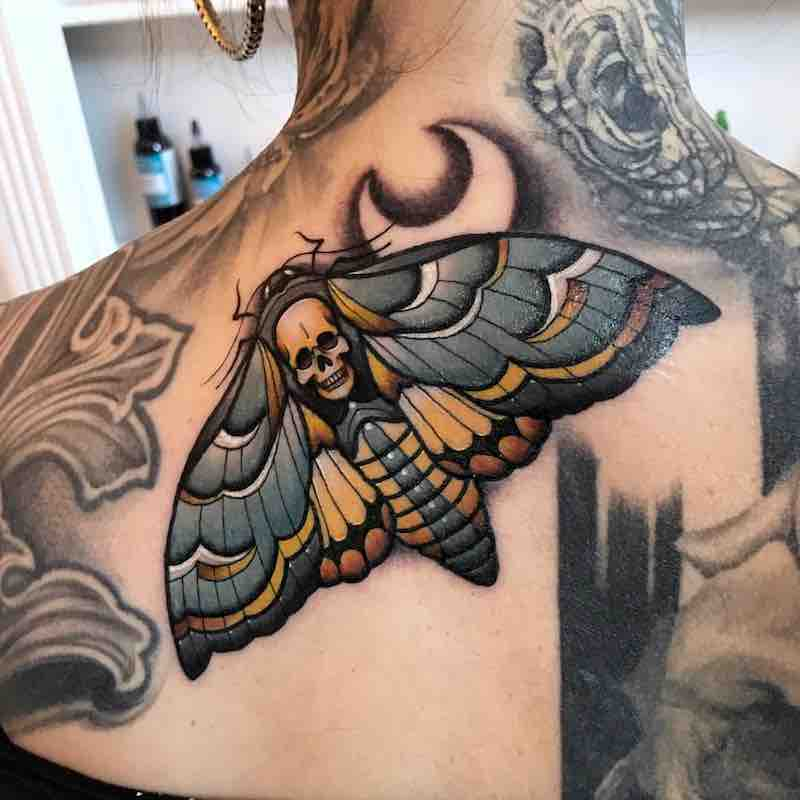 Moth Tattoo 3 by Fraser Peek