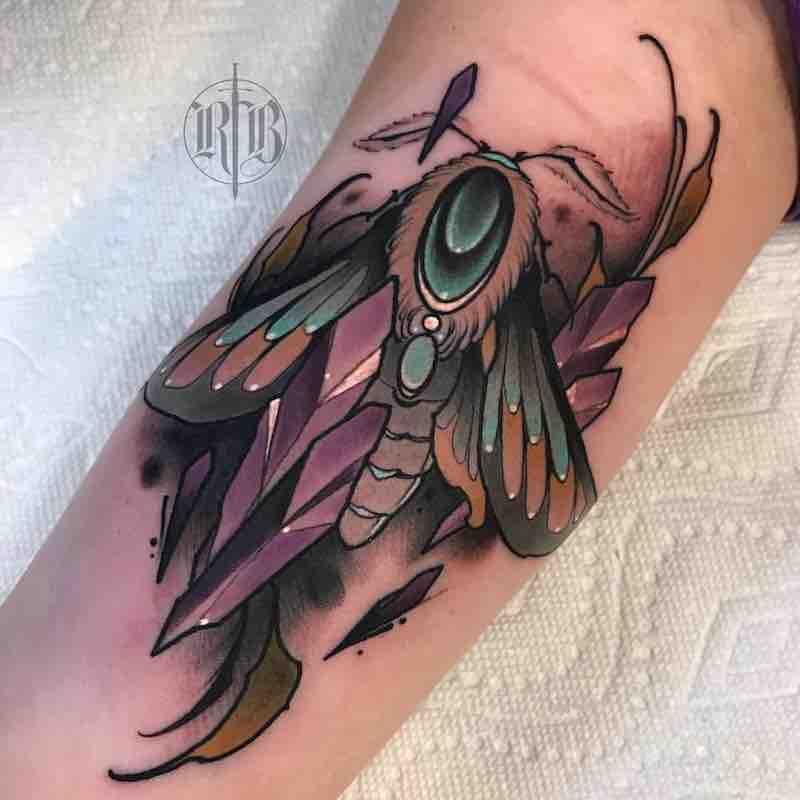 Moth Tattoo 3 by RB Tattoo
