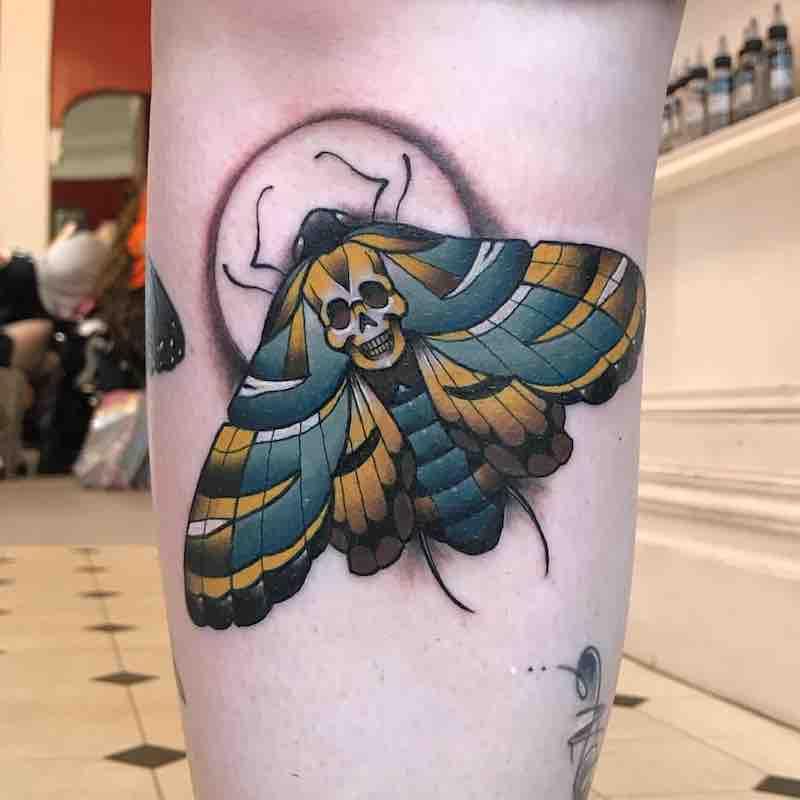 Moth Tattoo 4 by Fraser Peek