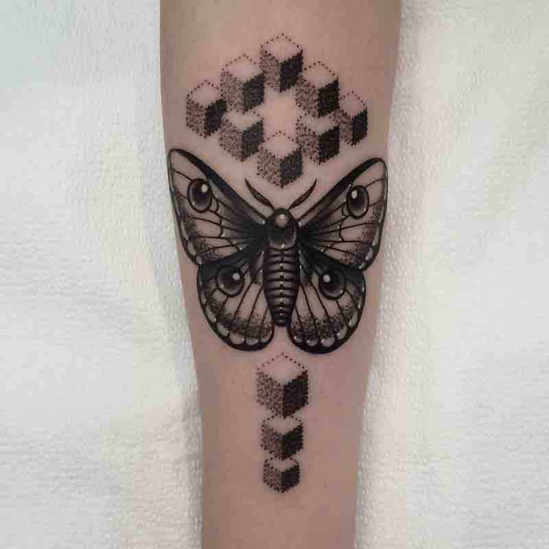 Moth Tattoo 4 by Patrick Whiting