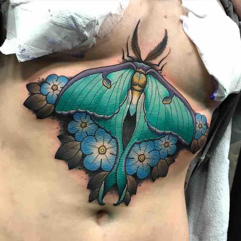 Moth Tattoo 6 by Fraser Peek