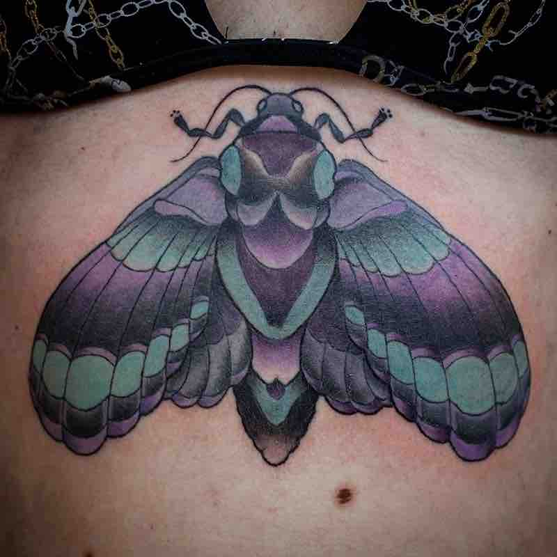 Moth Tattoo 7 by Fraser Peek