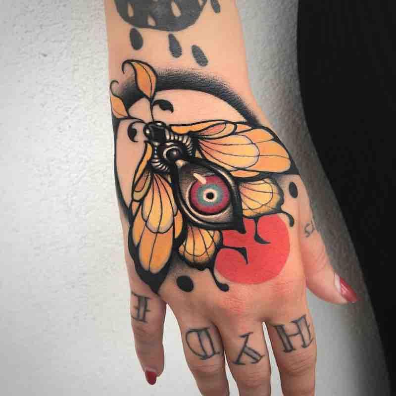 Moth Tattoo by Alan Ferioli