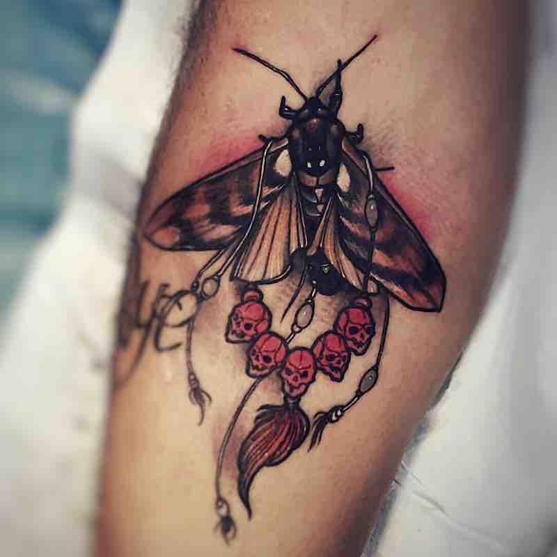 Moth Tattoo by Brando Chiesa