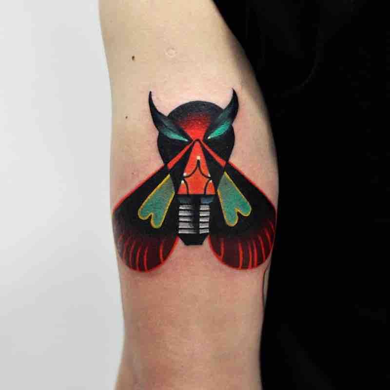 Moth Tattoo by David Peyote