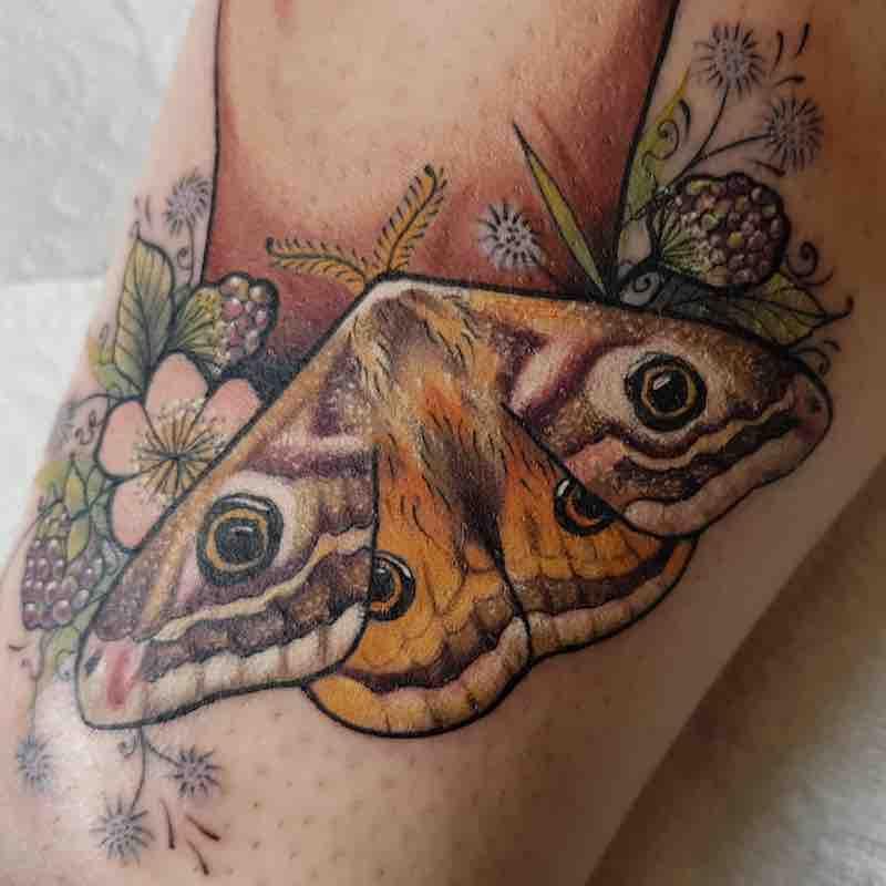 Moth Tattoo by Ellis Arch