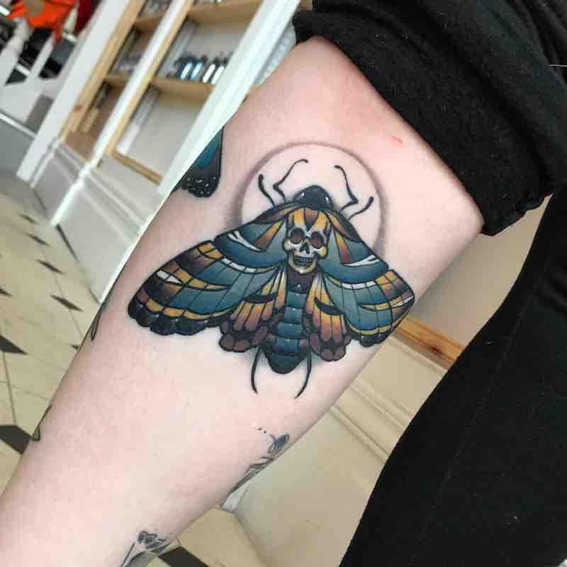 Moth Tattoo by Fraser Peek