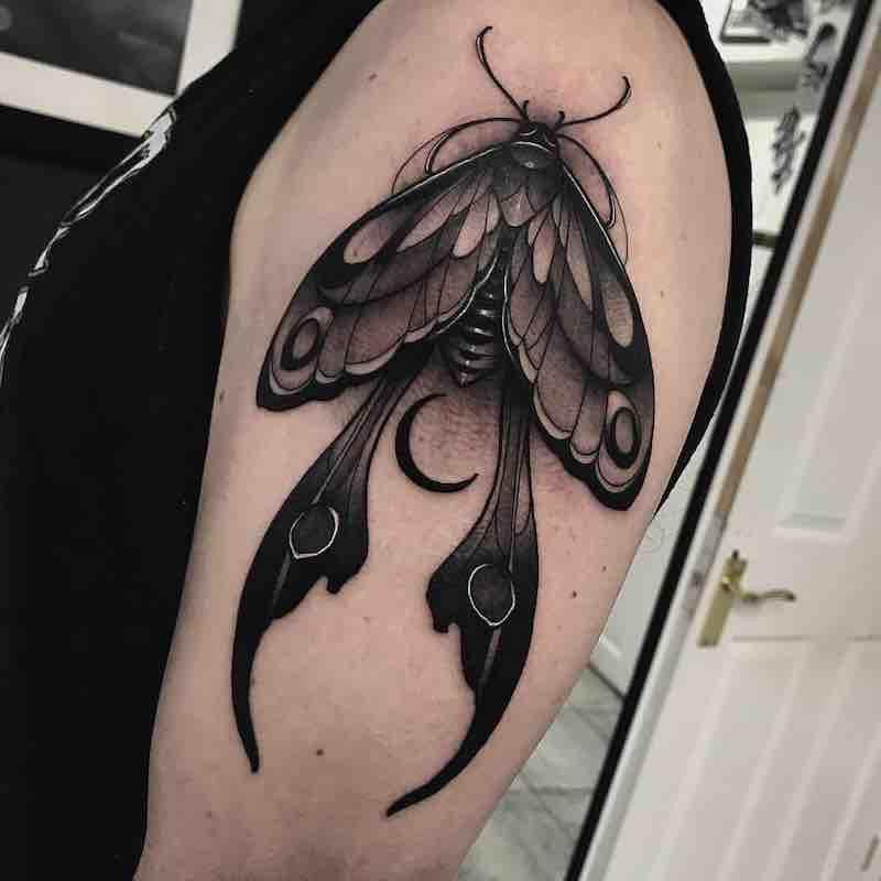 Moth Tattoo by Jason James Smith